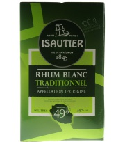 Bag In Box Isautier Rhum blanc 49° 10L