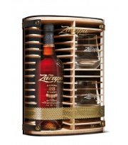 Zacapa - Gift wood pack Solera 23 years + 2 glasses